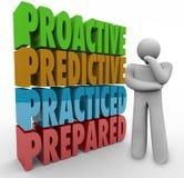 Pensador preparado praticado com caráter de previsão dinâmico Foto de Stock Royalty Free