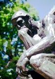 Pensador - Rodin - NYC Fotos de archivo libres de regalías