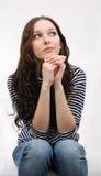 Pensamento bonito do modelo da adolescência Imagens de Stock Royalty Free