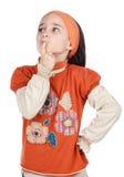 Pensamento da menina de Aborable Imagens de Stock Royalty Free
