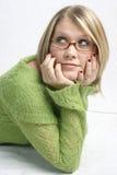 Pensamento da mulher Fotos de Stock