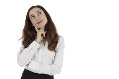 Pensamento da mulher imagem de stock