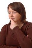 Pensamento da mulher Fotos de Stock Royalty Free