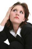 Pensamento da mulher de negócio imagem de stock