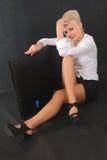 Pensamento da mulher de negócio Foto de Stock