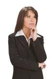Pensamento da mulher de negócios Imagens de Stock Royalty Free