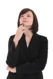 Pensamento da mulher de negócios Foto de Stock
