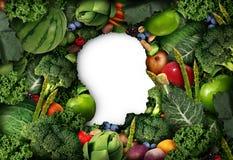 Pensamento das frutas e legumes ilustração stock