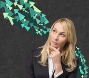 Pensamento das mulheres de negócios Imagem de Stock