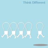 Pensamento diferente Imagens de Stock