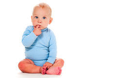 Pensamento do bebé Fotos de Stock Royalty Free