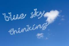 Pensamento do céu azul Imagens de Stock Royalty Free