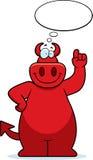 Pensamento do diabo dos desenhos animados Imagem de Stock Royalty Free