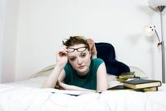 Estudante fêmea Thinking foto de stock