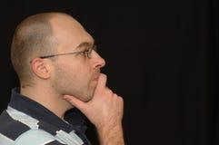 Pensamento do homem Fotografia de Stock