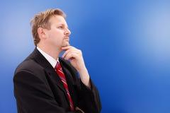 Pensamento do homem de negócio Fotos de Stock