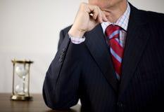 Pensamento do homem de negócio Fotos de Stock Royalty Free