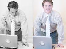 Pensamento do homem de negócios fotos de stock royalty free