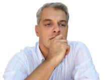 Pensamento do homem de negócios Foto de Stock