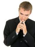 Pensamento do homem de negócios Fotografia de Stock