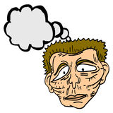 Pensamento do homem dos desenhos animados Imagem de Stock Royalty Free