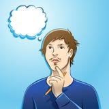 Pensamento do ilustrador ou do escritor Imagem de Stock