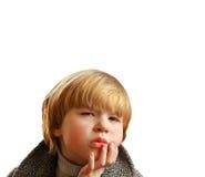 Pensamento do menino Imagem de Stock