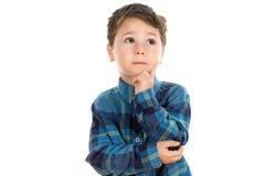 Pensamento do rapaz pequeno Fotos de Stock