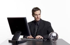 Pensamento global sobre seu negócio imagens de stock royalty free