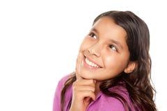 Pensamento latino-americano bonito da menina fotografia de stock royalty free