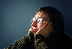 Pensamento novo da mulher adulta. Imagens de Stock Royalty Free