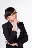 Pensamento novo da mulher de negócio fotos de stock