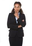 Pensamento novo da mulher de negócio fotografia de stock royalty free