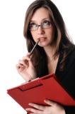 Pensamento novo da mulher de negócio Foto de Stock Royalty Free