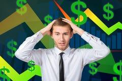 Pensamento novo do homem de negócios Imagens de Stock Royalty Free