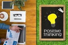 Pensamento positivo Foto de Stock