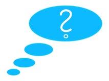Pensamento sobre uma pergunta Fotografia de Stock
