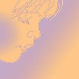 Pensamento sobre você. ilustração royalty free