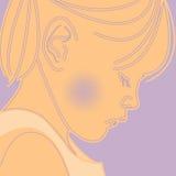 Pensamento sobre você. ilustração stock