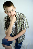 Pensamentos adolescentes Foto de Stock Royalty Free