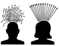 Pensamentos humanos ilustração do vetor