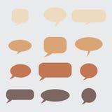 Pensamiento, burbuja del discurso Nube ideal Globo de la charla Caja de la cita Fotos de archivo libres de regalías
