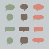 Pensamiento, burbuja del discurso Nube ideal Globo de la charla Caja de la cita Foto de archivo libre de regalías