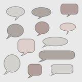 Pensamiento, burbuja del discurso Nube ideal Globo de la charla Caja de la cita Imagen de archivo