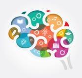Pensamiento creativo Fondo conceptual Imagen de archivo