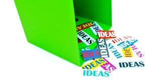 Pensamiento creativo fuera de la caja Imagenes de archivo