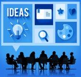 Pensamiento creativo Team Concept que se inspira de las ideas Fotografía de archivo
