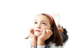Pensamiento de la chica joven Fotos de archivo libres de regalías
