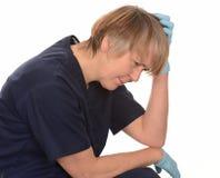 Pensamiento de la enfermera Imagen de archivo libre de regalías