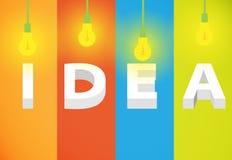 Pensamiento de la idea Imagen de archivo libre de regalías